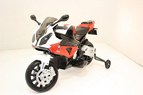 Moto Elettrica cavalcabile giocattolo per bambini BMW S 1000 RR a batteria, autorizzata, ruote morbido EVA, telaio metallo, 2 motori, batteria 12V