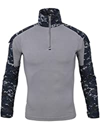 d8e553b12f20a Cebbay Liquidación Ropa táctica Camisa táctica Camuflaje de Hombre Manga  Larga Delgada Deportes al Aire Libre