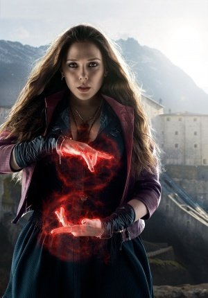THE AVENGERS : AGE OF ULTRON - Scarlet Witch - US Textless Imported Movie Wall Poster Print - 30CM X 43CM Brand New