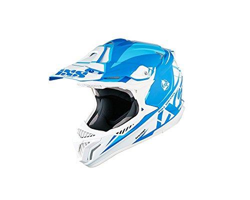 Motocrosshelm IXS HX 179 FLASH blau-weiß-blau Gr.XS