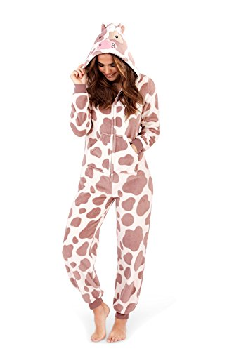- 41UCGdIEzbL - Martildo Fashion, Girls Luxury 3D Animal All In One Jumpsuit Onesie, Cow, Child 7-8 Yrs welcome - 41UCGdIEzbL - welcome