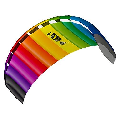 Invento 11768450 - Symphony Beach III 2.2 Rainbow, Zweileiner Lenkmatten, Ab 14 Jahren, 73 x 220 cm Ripstop-Nylon 2-6 Beaufort