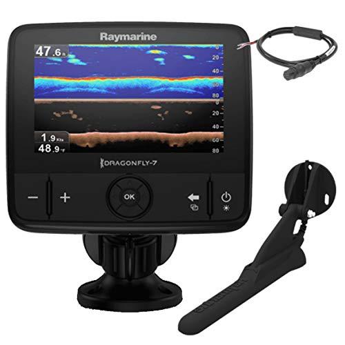 Raymarine E70320 Dragonfly-7 Pro Sonar/GPS (17,8 cm (7 Zoll), integrierte Down Vision, CPT-DVS ohne Karte) Raymarine Vier