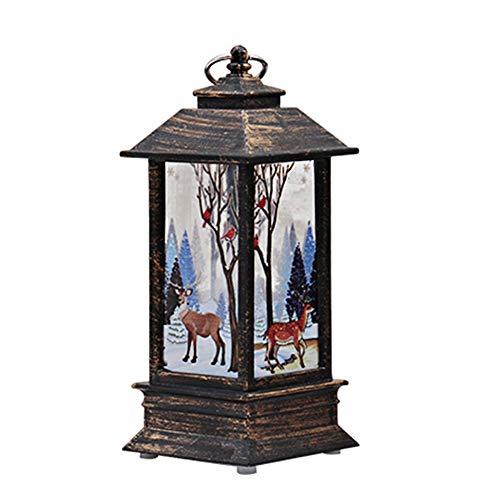 eihnachtsschmuck Jesus/Schneemann/Weihnachtsmann/Elch Muster LED Weihnachtskerze Teelicht Kerzen Nachtlicht Batteriebetrieb Size 5.5CM X 5.5CM X13CM (Elk) ()
