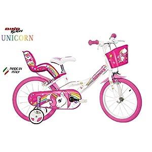 "41UCJA1myFL. SS300 Cicli Puzone Bici 14"" Unicorn Dino Bikes Art. 144 R-Un"