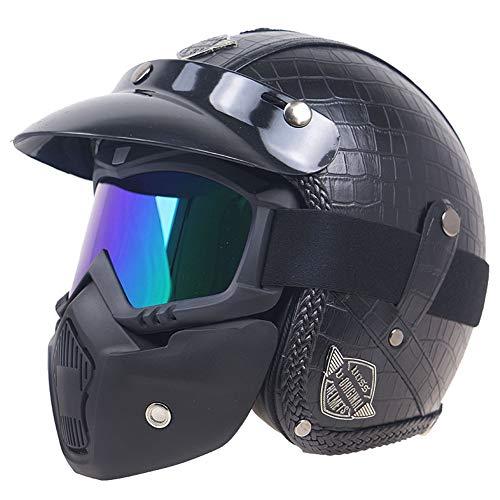 Qazwsx Casco De Motocicleta Casco Protector Casco