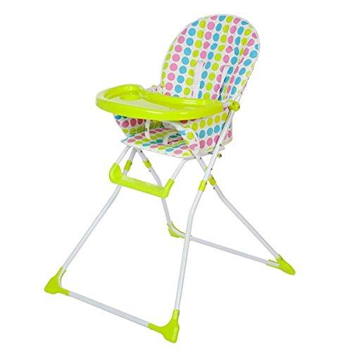 Preisvergleich Produktbild Klappbarer Baby-Hochstuhl | Praktischer Sitz für Kinder ab 6 Monaten | Abnehmbares Sitzpolster mit Plastikhülle | 5 Anschnaller, verstellbare Gurte | Maximal belastbar bis 15 kg | Entspricht der Norm DIN EN 14988-1:2006+A1:2012 (Kinderhochstühle - Anforderungen und Prüfverfahren)