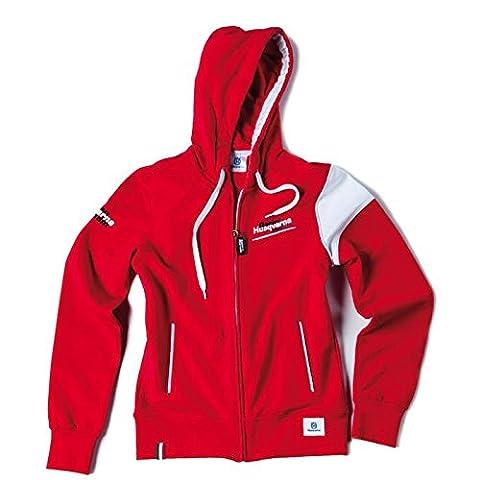 Husqvarna motorsport team veste à capuche pour enfant rouge racing taille l