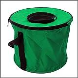 Secchio Tela Pieghevole 45 L Perfetto per Roulotte Camper Monolocali Campeggio Imbarcazioni,Green,28cmindiameter