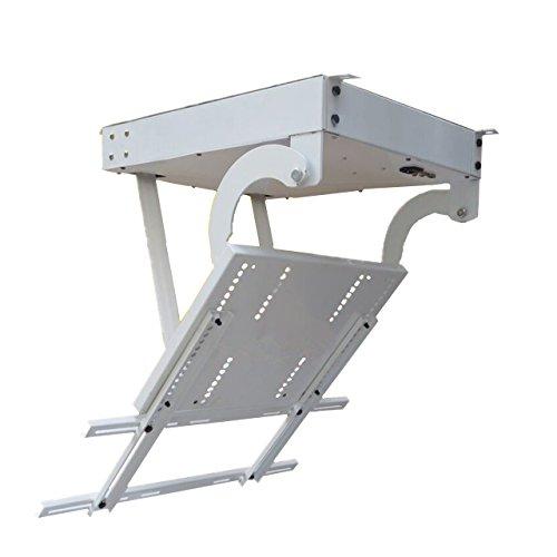 Baoshishan Deckenhalterung mit Fernbedienung, 127-178 cm, motorisiert, für TV-Deckenmontage, elektrisch, klappbar, motorisiert - 220V