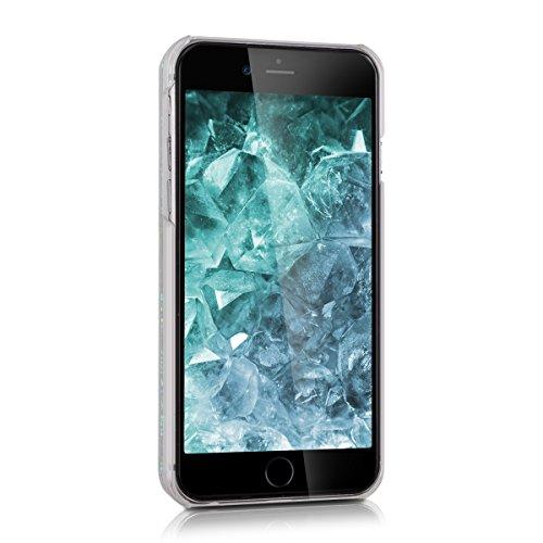 kwmobile Hülle für Apple iPhone 6 / 6S - Hardcase Backcover Case mit Flüssigkeit Handy Schutzhülle - Cover mit Enten Design in Gelb Blau Transparent Schneekugel Sterne Hellblau Transparent
