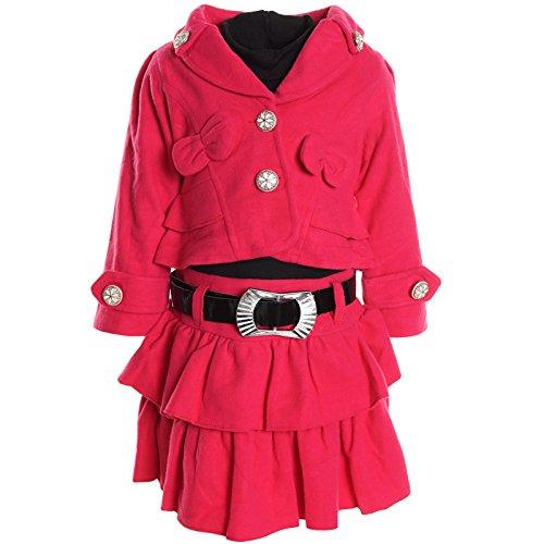 bezlit-abito-stile-impero-basic-collo-a-u-maniche-lunghe-ragazza-pink-104-cm-4-anni