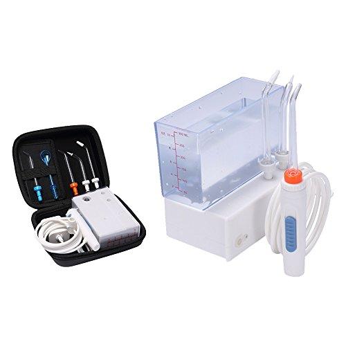 H2ofloss® ricaricabile pulizia totale con 300ml di acqua nel serbatoio e Irrigatore orale ad alta pressione portatile (hf - 3premium)