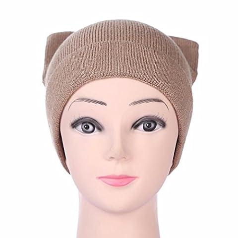 Baggy Beanie Knit Hat, FeiliandaJJ Women's Winter WarmFashion Ski Hat Skull Cap (A)