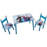Preisvergleich für Unbekannt Fun House 712505Disney Eiskönigin Set Tisch mit 2Stühle für Kinder MDF Blau 60x 40x 44cm