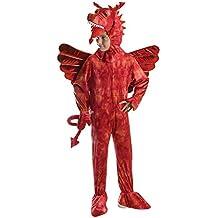 Bristol Novelty CC572 - Disfraz de dragón, color rojo