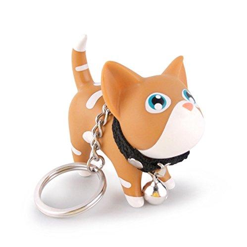 AnaZoz Schmuck Schlüsselanhänger Haustier Fahrzeugschlüssel Katze Kätzchen Taschenanhänger Geschenk für Herren Damen Kaffee