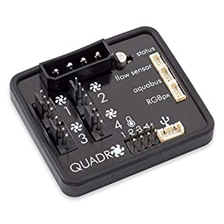 Aqua Computer Quadro Lüftersteuerung für PWM-Lüfter mit Anschluss für Ambient/Hintergrundbeleuchtung