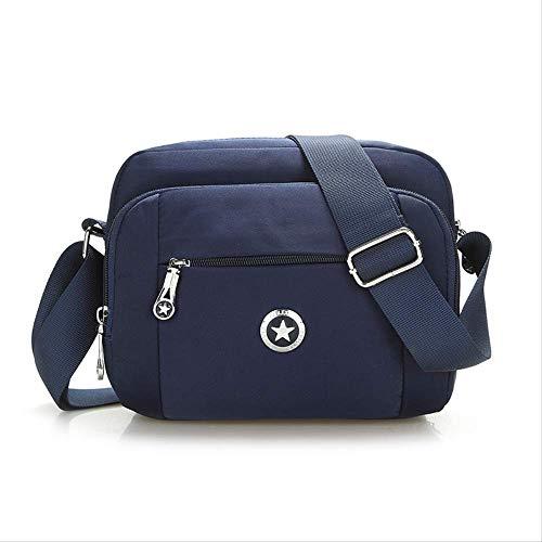 ZYF996 Kaufen Sie Neue Outdoor-Schultertasche Aus Wasserdichtem Nylon, Bequeme Tasche Für Unterwegs, Dunkelblau