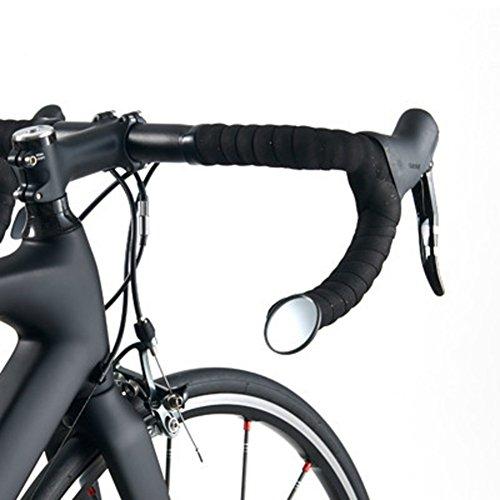 KOONARD Espejos para Bicicleta Ciclismo MTB Carretera Manillar Bicicleta Espejo Retrovisor Flexible Ajustable Seguro Espejo Accesorios para Bicicleta Cristal