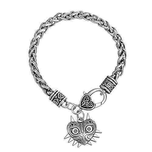 Pulsera vintage de amuleto Majora de peltre con leyenda de Zelda, joyería de Wiccan