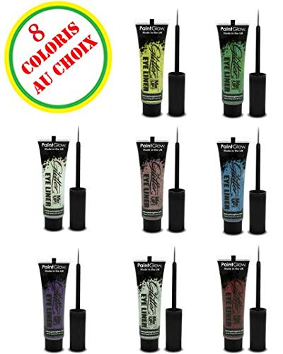 PaintGlow Glitter Eyeliner with Applicator Silver 15ml