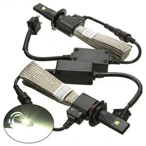 cree phares de voiture h7 ampoule de LED 5000lm kit de conversion 40w 6000k ensemble