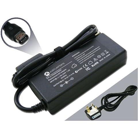 HP Compaq 18,5V, 4,9A 90W (ovalado de Multi Tip) adaptador compatible Cargador de Fuente de energía portátil (Fuente de alimentación)