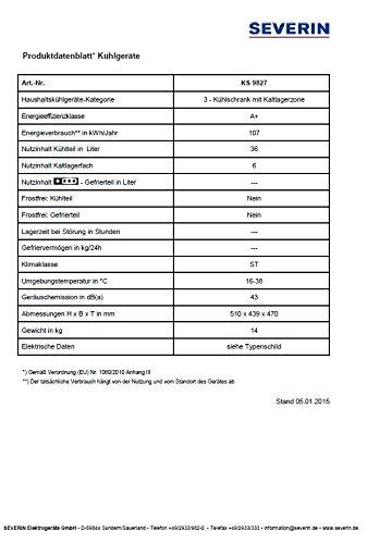 Severin KS 9827 Mini-Kühlschrank - 3