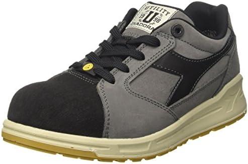 Diadora - D-jump Low Pro S3 Esd, zapatos de trabajo Unisex adulto, Gris (Grigio Acciaio/nero Antracite), 43 EU