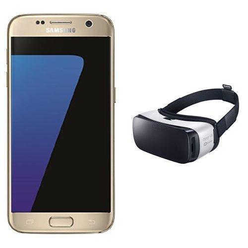 Samsung Galaxy S7 Smartphone (gold) + Samsung Gear VR Virtual Reality Brille (weiß)