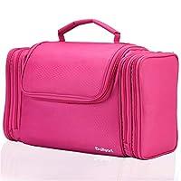 Dailyart Travel Toiletry Bag Large Hanging Make up Bag Cosmetic Makeup Organiser Waterproof Wash Bag for Men and Women Ladies, Bathroom Storage (Pink)