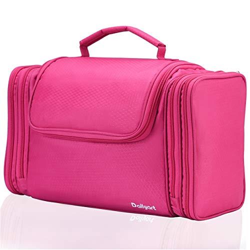 Dailyart XXL Kulturbeutel Frauen Kulturtasche zum Aufhängen Groß Kosmetiktasche mit 7,5 Liter | Kulturtasche Damen | Waschtasche Männer Frauen | Beautycase | Wasserdicht Waschbeutel (Rosa)