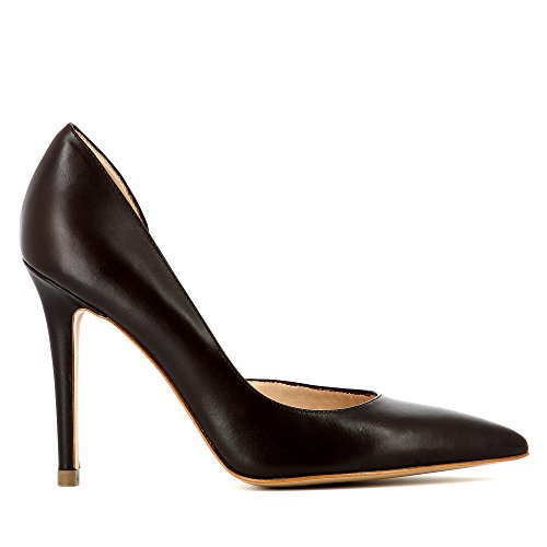 ALINA escarpins femme cuir lisse marron foncé