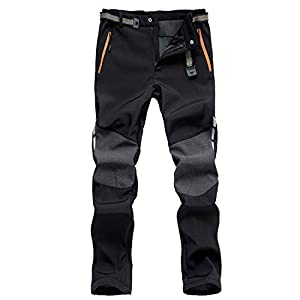 41UCUVe3GCL. SS300  - 7VSTOHS Men's Outdoor Comfortable Hiking Trousers Windproof Warm Trousers Climbing Walking Casual Pants for Winter…
