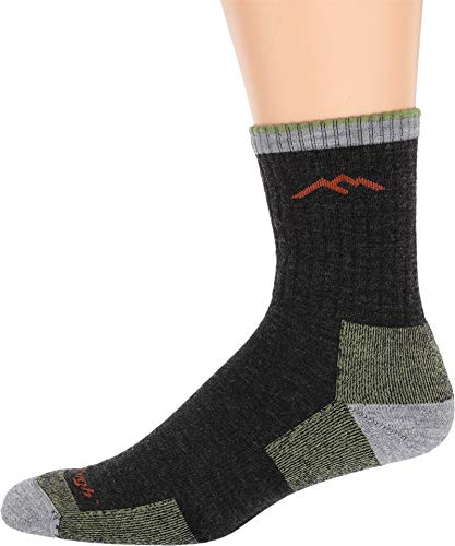 Darn Tough Merino Wool Micro Crew Sock Cushion,Lime,Large by Darn Tough (Wool Herren Apparel Socks)