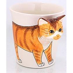 b2see Animales de perros de gatos de tazas de 3d de cerámica Taza de tazas de con de animales de perros de gatos de diseño de imagen