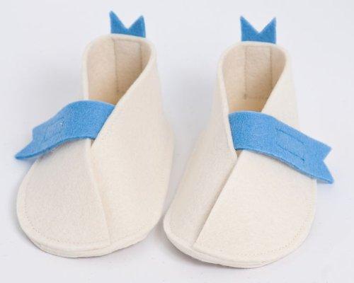 Handgefertigt wunderschönen Baby Schuhe von höchster Qualität Wolle Baby Shoes with Blue