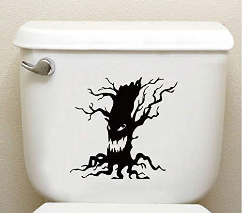 Meaosy Spooky Tree Vinyl Wandaufkleber Halloween Scary Baum Gesicht Wc Aufkleber Home Decor