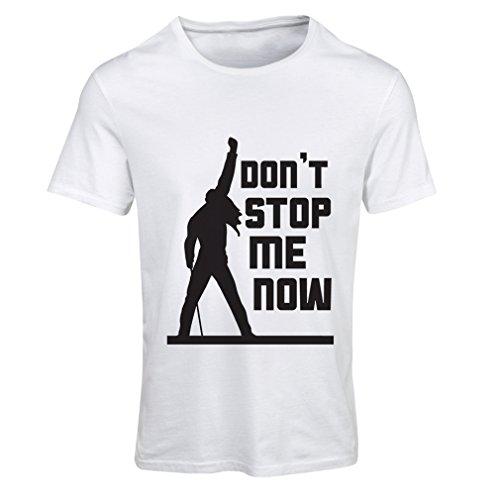 Frauen T-Shirt Don't Stop me! Fan shirts, musiker geschenke, rock kleidung (Medium Weiß Mehrfarben)