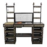Rogge´s RelaxGrill Outdoorküche K2, Außenküche, Gartenküche, Sommerküche, Partyküche mit Edelstahl-Einbaugrill