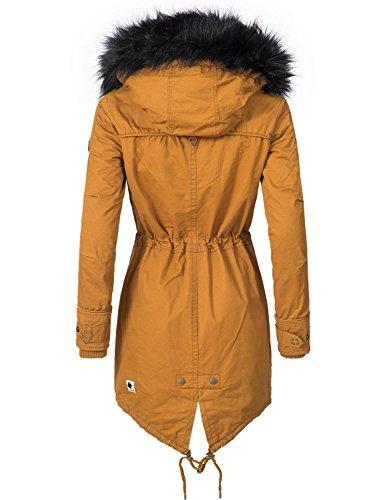 Khujo Damen Mantel Wintermantel Winterparka YM-Dorota 4 Farben + Camouflage XS-XXL Gelb