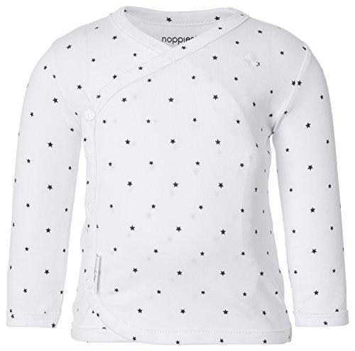 Noppies Unisex Baby U Tee ls Anne AOP T-Shirt, per Pack Weiß (White C001), 56 (Herstellergröße: 56)