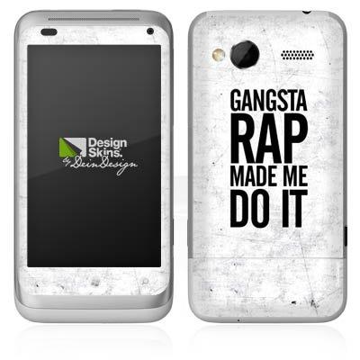 HTC Radar Case Skin Sticker aus Vinyl-Folie Aufkleber Musik Rap Sprüche