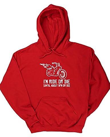 HippoWarehouse - Sweat-shirt à capuche - Homme - rouge -
