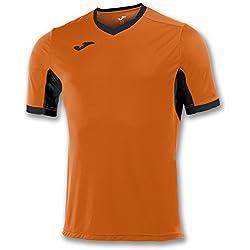 Joma Champion IV M/C Camiseta Equipamiento, Hombre, Naranja/Negro
