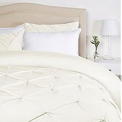 Pinzon - Bettwäsche-Set mit Quetschfalten, 135 x 200 cm - Naturweiß