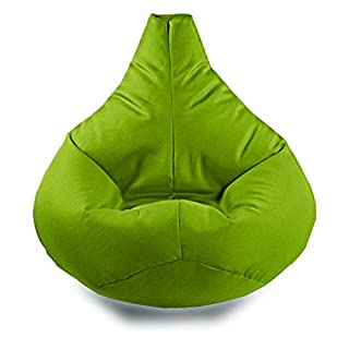 Gilda   Teen Highback - Outland Teenager Gaming Lounger Recliner Giant Beanbag Dual Zip System Teflon Coated Polyester Virgin Beans Indoor/Outdoor (Water And Stain Resistant) (LIME)