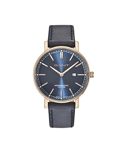 Gant Nashville Men's Quartz Watch with Blue Dial Analogue Display and Blue Leather Strap Gt006007