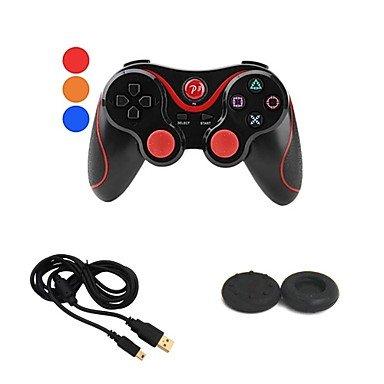 WH drahtlose bluetooth doubleshock Gamepad Game-Controller + USB Ladekabel + Taste Schutz für Sony ps3 playstation3 (Playstation3-fan)